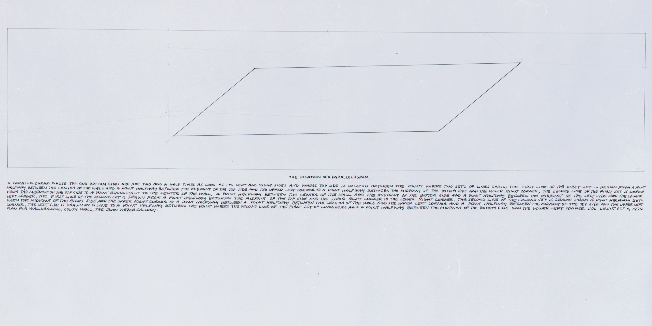 Sol Lewitt: Works of the 60s and 70s