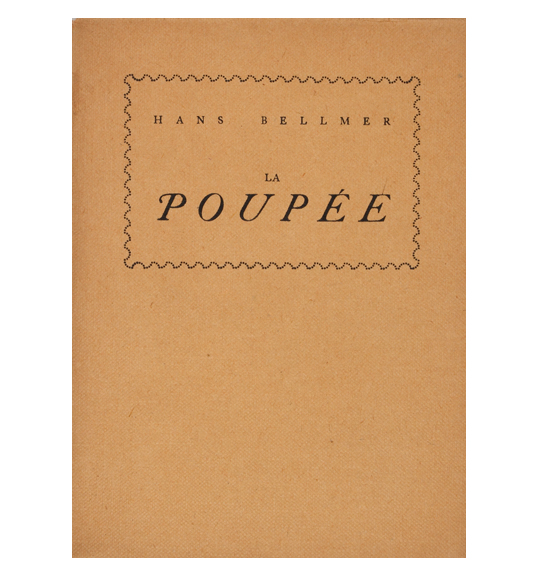 A cover of a beige paper bound book or volume, with the author and title framed in a box with wavy lines.
