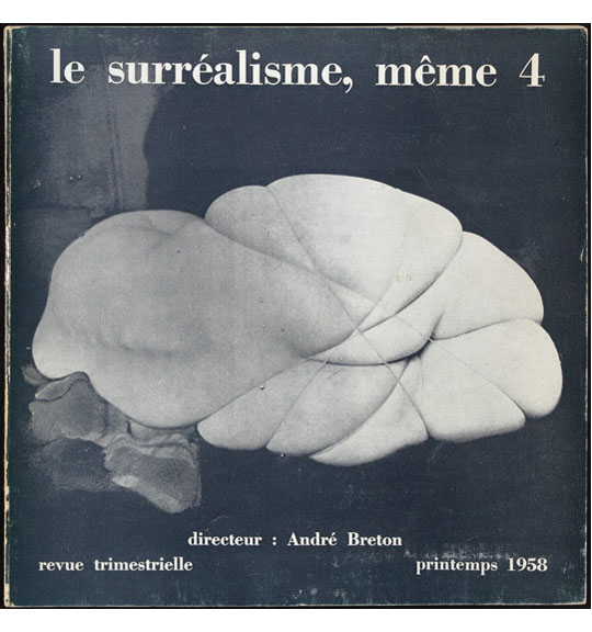 A photograph on the cover of a magazine. A nude figure appears on a dark background. The figure is seen from the back to the legs, with the spine facing the viewer. The legs are bound tightly with rope or string, with the figure lying on its side.
