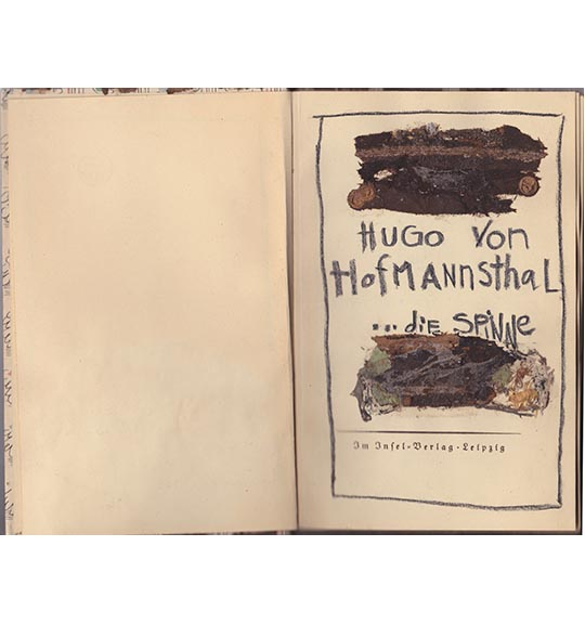An image of a book opened to the first page, showing the title and the author's name.