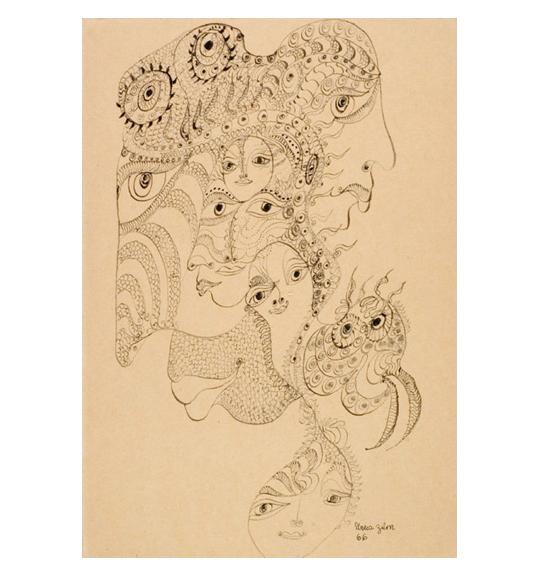 Unica Zürn: Twelve Drawings + Two Paintings
